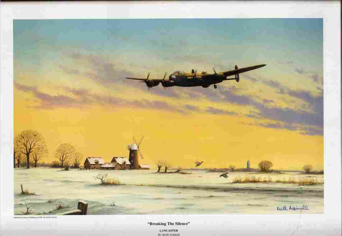 World War Two 17x12 approx framed print titled Breaking