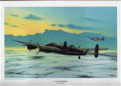 World War Two 17x12 approx framed print titled Last One