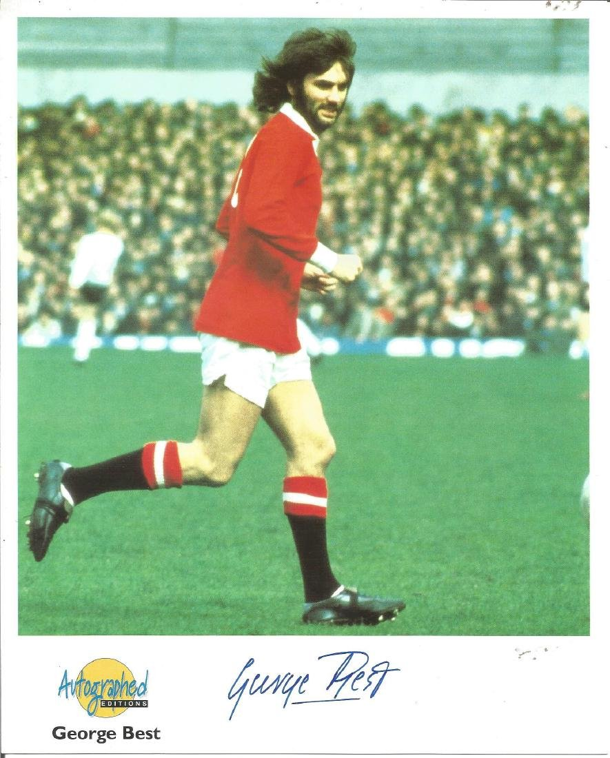 George Best signed 10x8 colour Autographed Editions