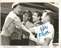 Van Johnson and Jane Wyman signed 10x8 bw movie still