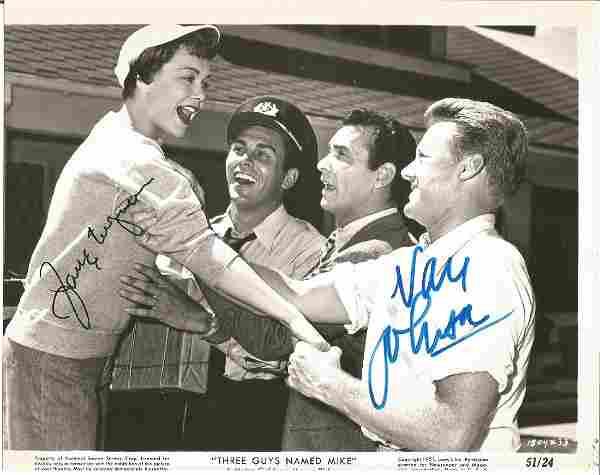 Van Johnson and Jane Wyman signed 10x8 b/w movie still
