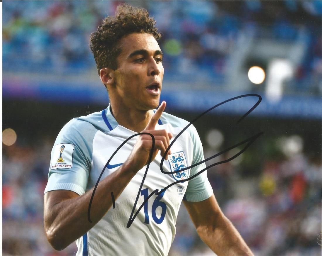 Dominic Calvert-Lewin Everton Signed England 8x10 Photo