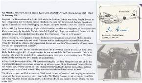 WW2 ace Signature of Sergeant Pilot (Later) Air Vice