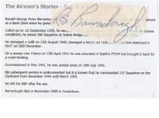 WW2 ace Signature of Sergeant Later Squadron Leader