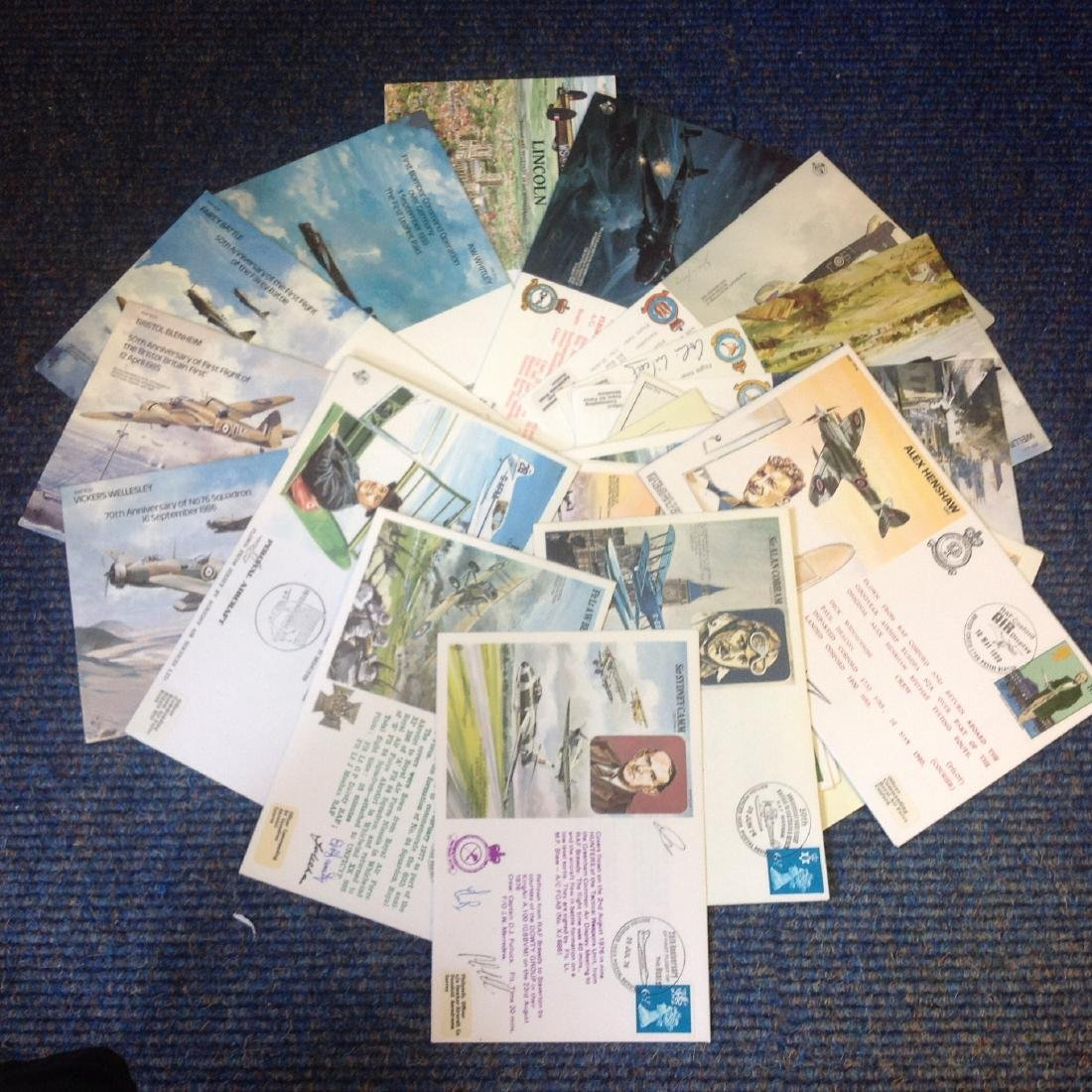 Aviation and WW2 collection includes 22 flown FDCs from