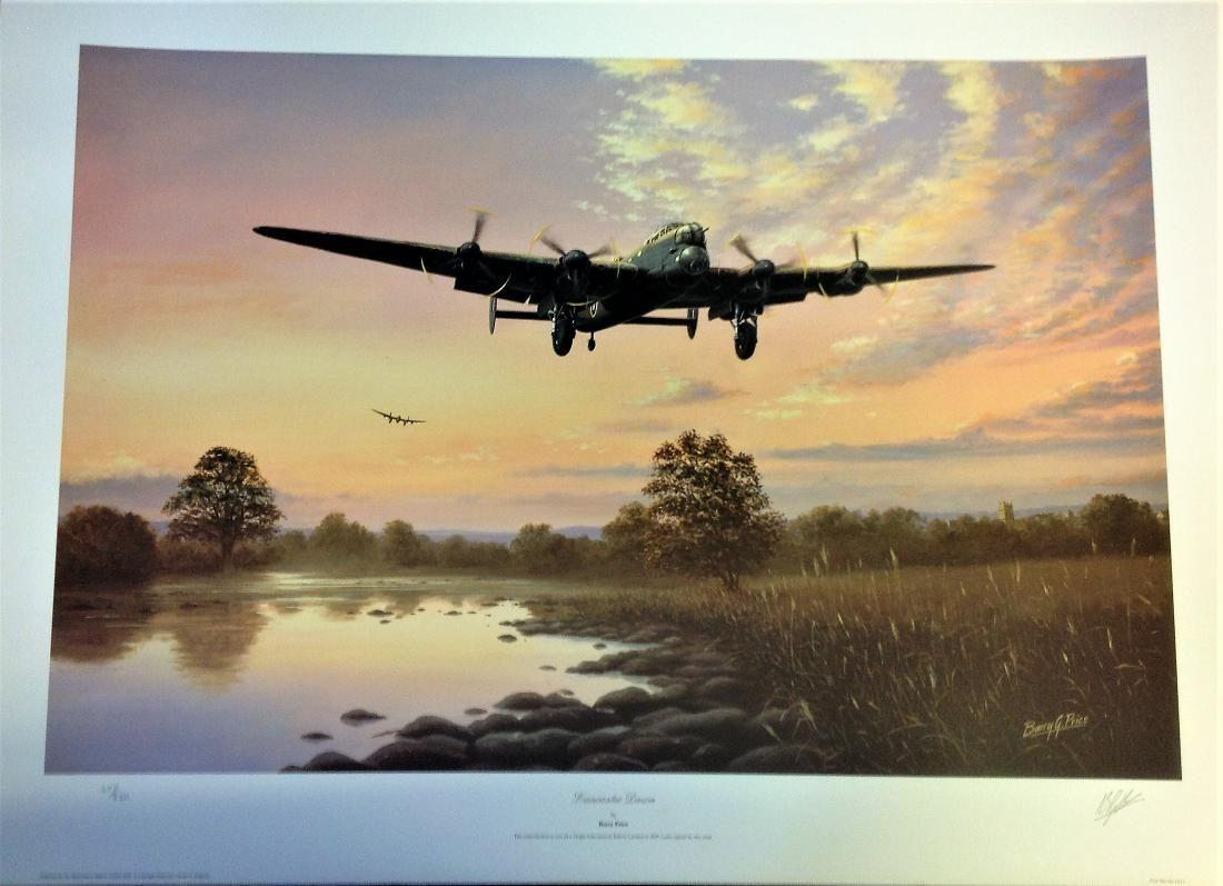 World War Two print 28x20 approx titled Lancaster Dawn