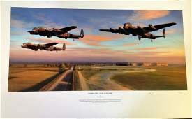 Dambusters World War Two Print 17x28 titled Dambusters