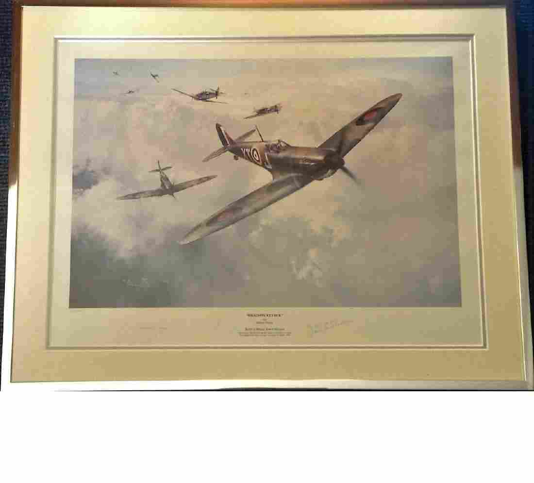 World War Two 19x25 framed and mounted print titled