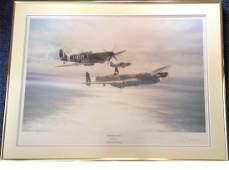 World War Two 20x27 framed and mounted print titled