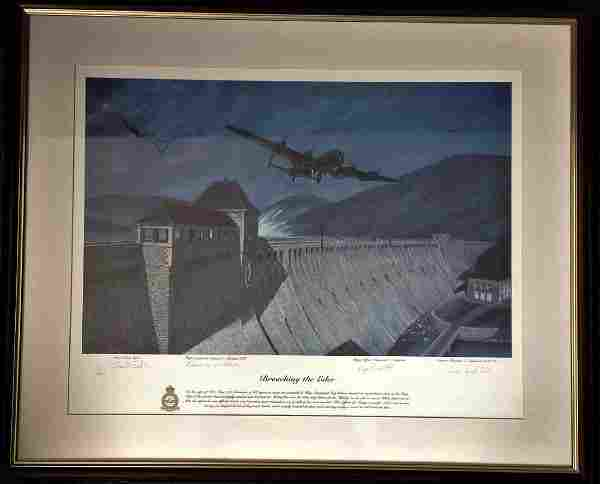 Dambuster World War Two framed and mounted print 24x29