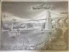 World War Two original pencil drawing 13x18 This is