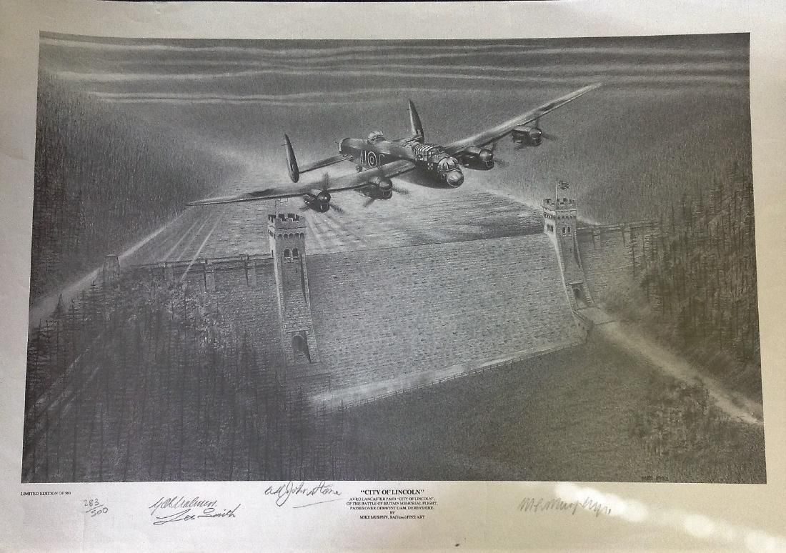"""World War Two pencil print 18x25 titled """"""""City of"""