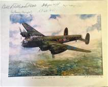 World War Two Lancaster 11x14 colour print picturing a