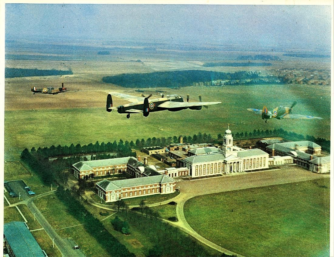 World War Two 15x12 colour photo picturing a Lancaster
