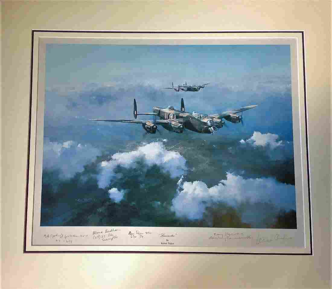 """World War Two 21x26 mounted print titled """"""""Lancasters"""""""""""