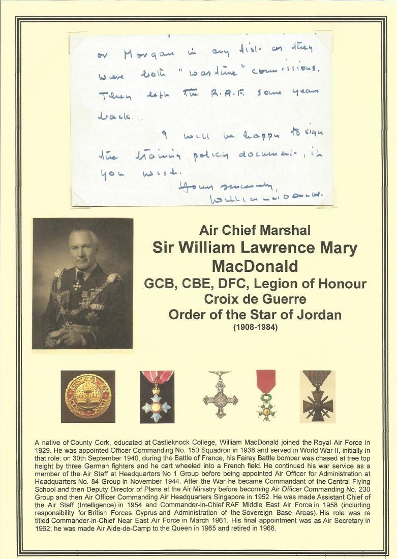Air Chief Marshal Sir William Lawrence Mary MacDonald