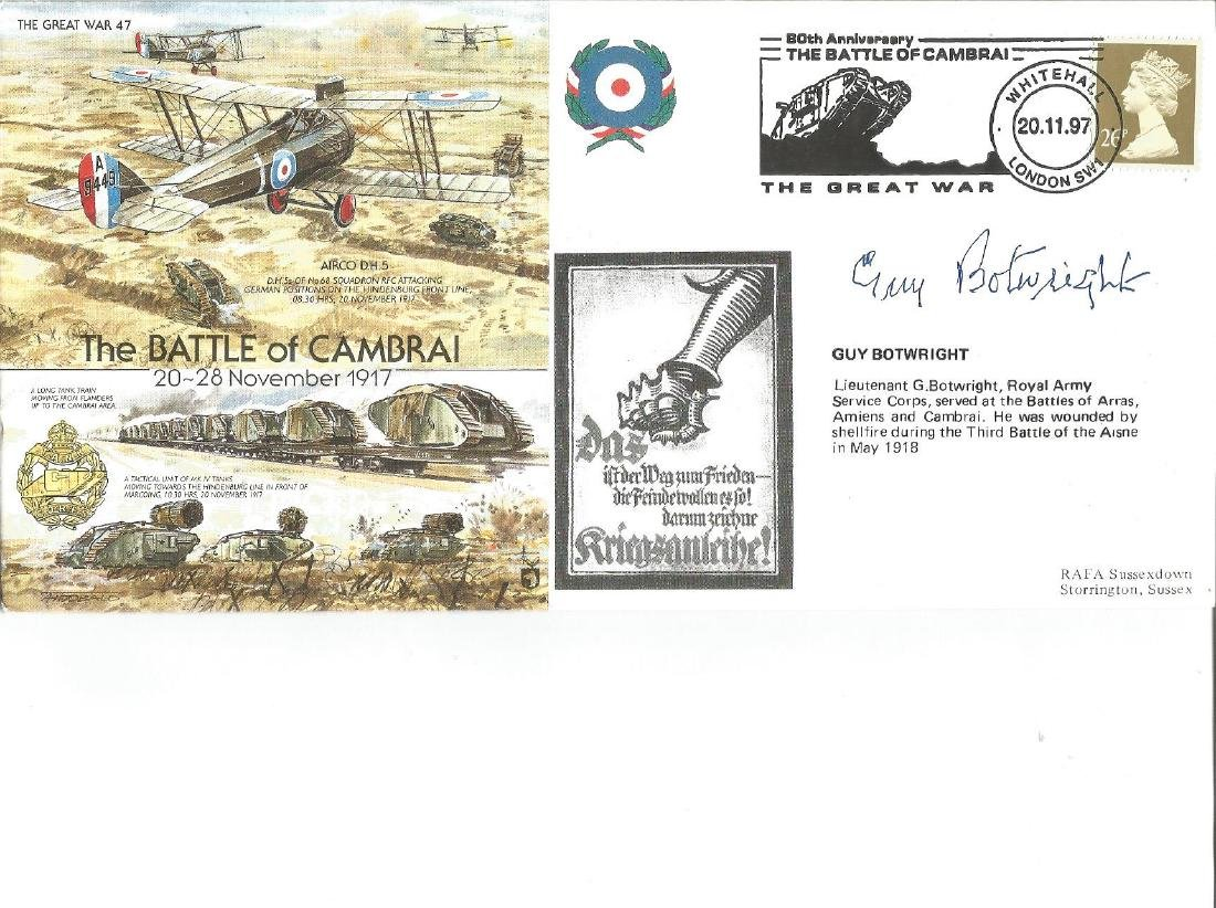 Great War flown cover The Battle of Cambrai, 20 -28