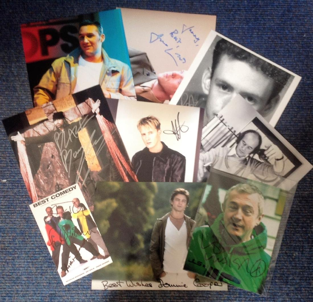 TV music signed collection. 8 photos including Nicholas