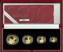 2000 Britannia Gold Proof Collection 4 coins 22 Ct