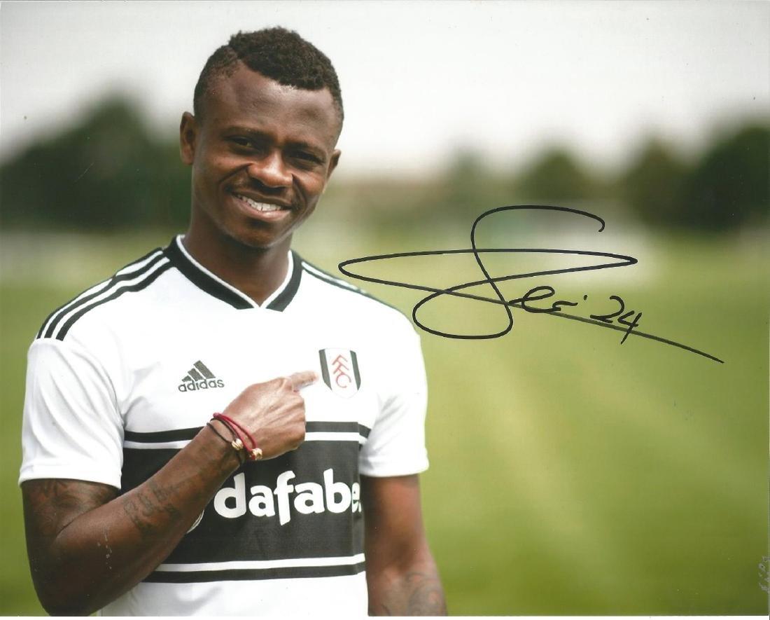 Jean Michael Seri Signed Fulham 8x10 Photo. Good