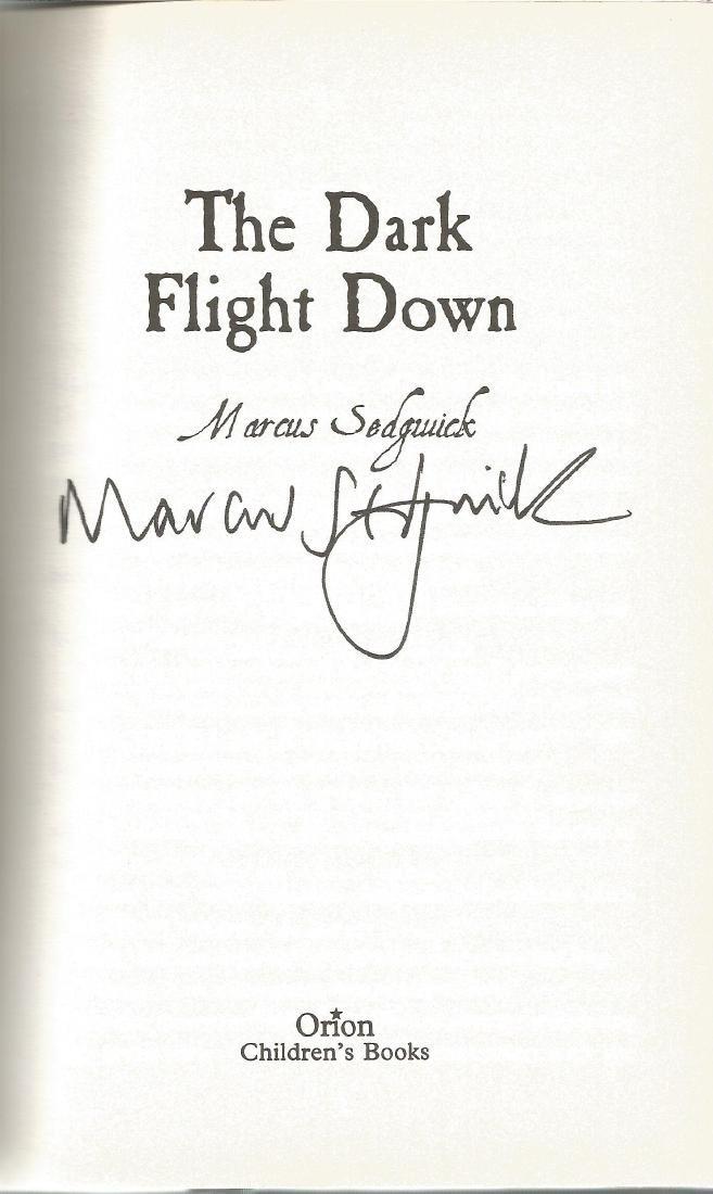 Marcus Sedgwick The Dark Flight Down signed hard back