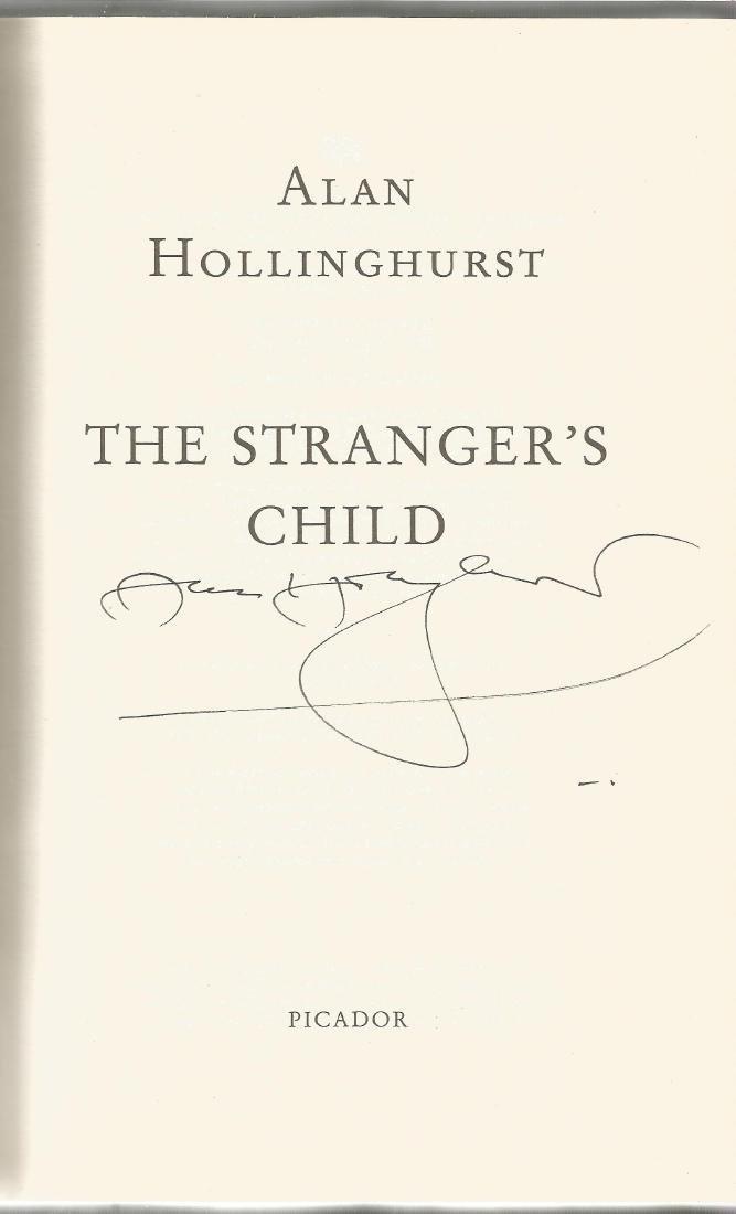 Alan Hollinghurst signed copy of The Stranger's Child.