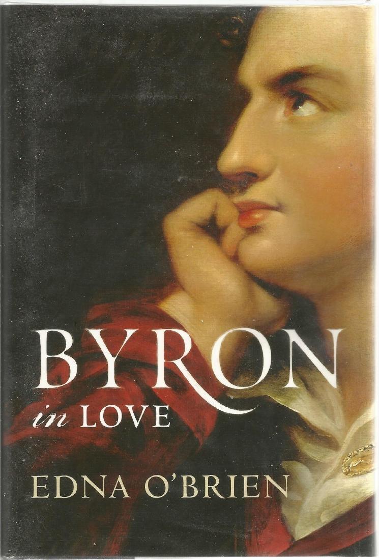 Edna O'Brien signed hard back book Byron in Love. Dust