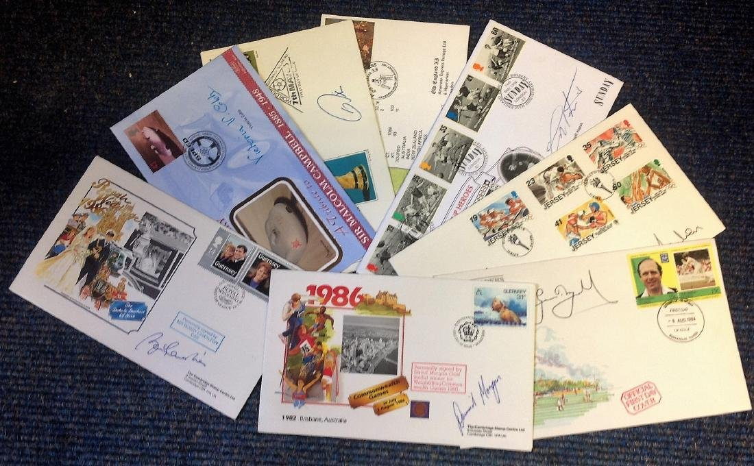 Sport Collection 8 signed FDC and commemorative covers