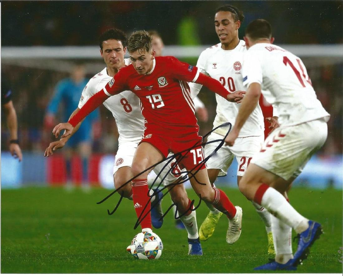 David Brooks Signed Wales 8x10 Photo. Good Condition