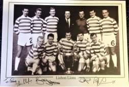Football Celtic Lisbon Lions 12x16 b/w photo signed by