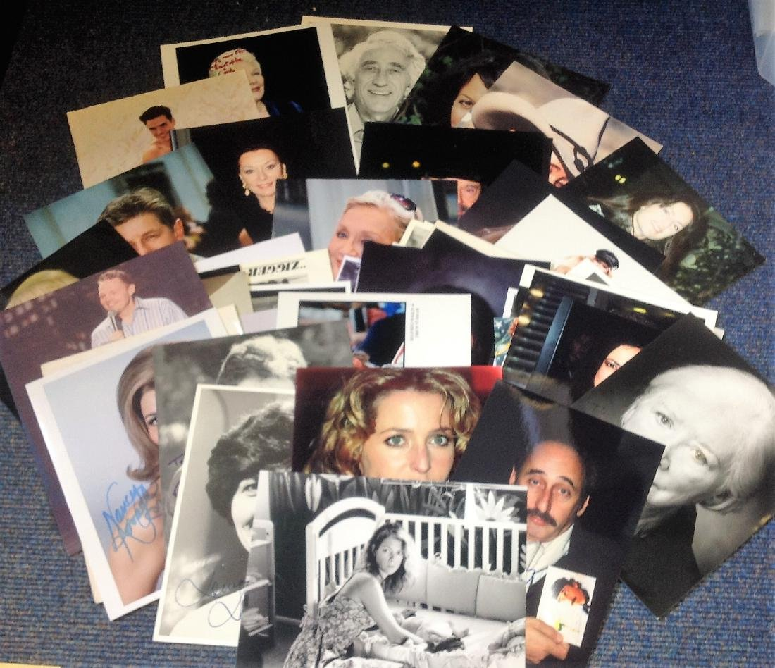 Assorted tv/film signed collection. 50+ photos mainly