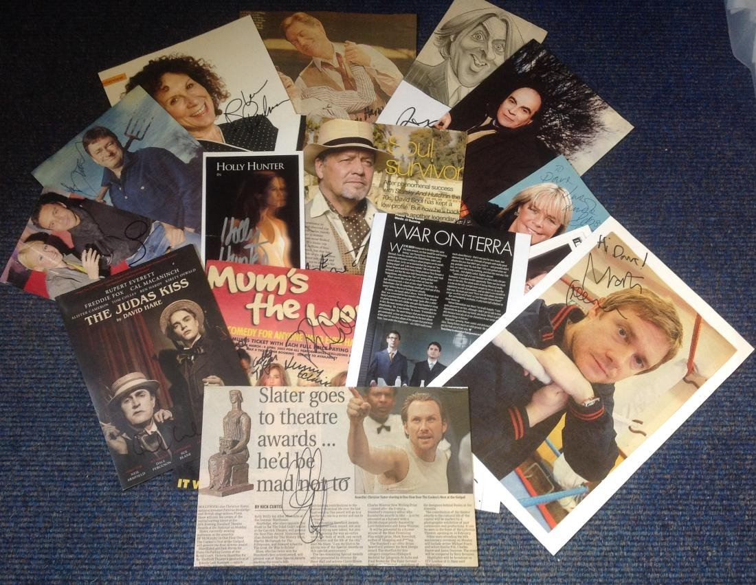 TV/Film signed collection. 15 items, assorted flyers