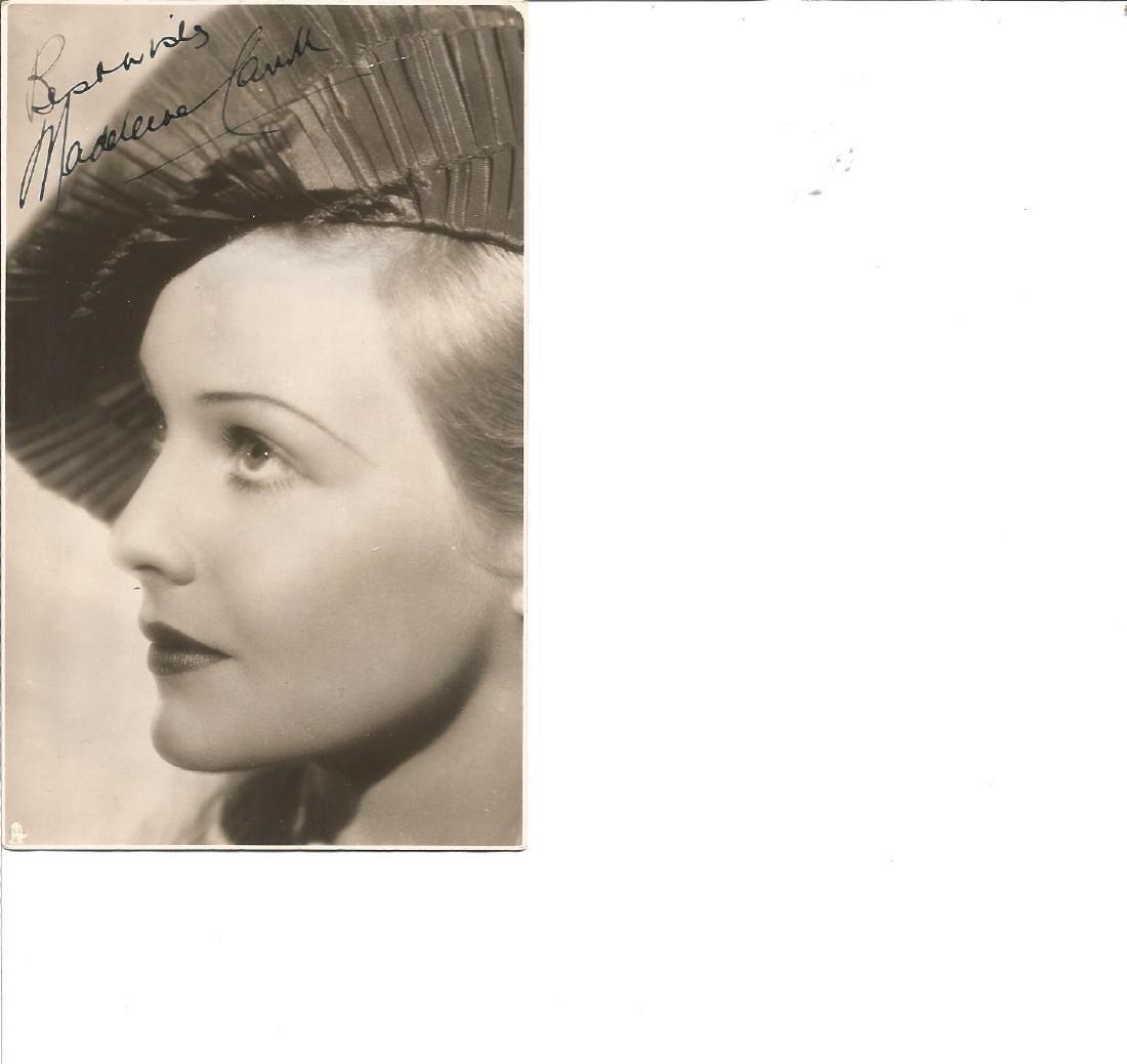 Madeline Carroll signed 6x4 vintage photo. Good