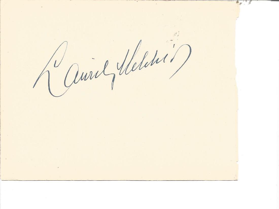 Lauritz Melchoir signed album page. Good Condition Est.
