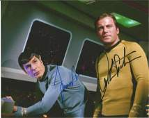 Star Trek double signed photo Shatner and Nimoy.