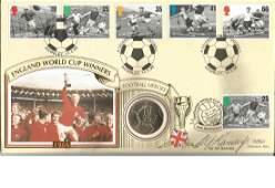 Alf Ramsey signed Benham 1996 Football Coin FDC Wembley