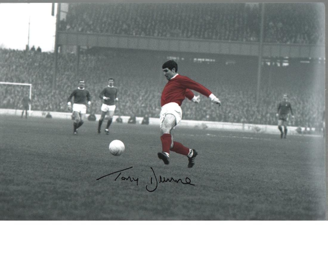 Tony Dunne Manchester United autographed high quality