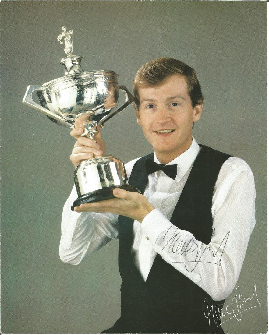 Steve Davis signed 10x8 colour photo with snooker