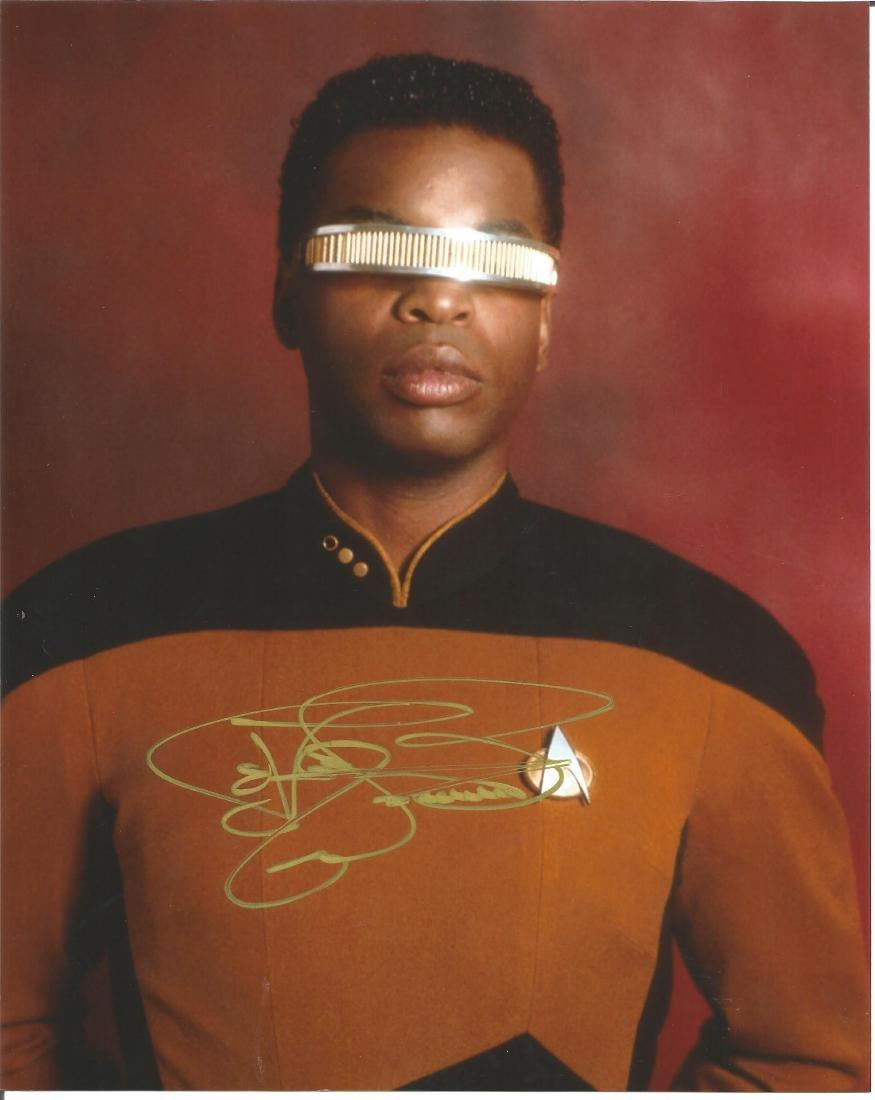 Star Trek Levar Burton signed 10x8 colour photo. Good