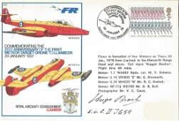 Luftwaffe WW2 fighter ace Hugo Broch signed RAF