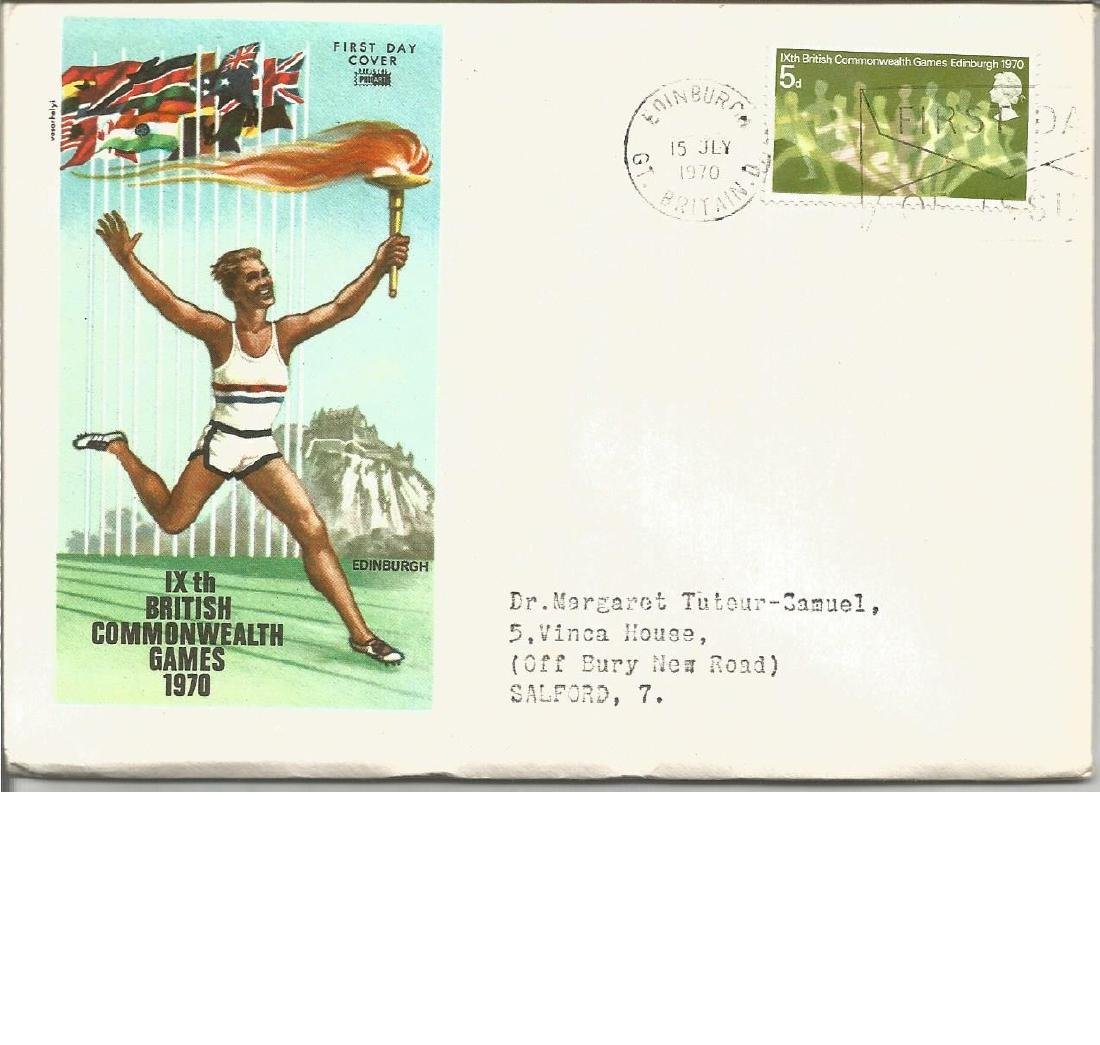 1970 Commonwealth Games FDC 5d value and rare Edinburgh