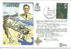 Group Captain G Burges OBE DFC signed official RAF