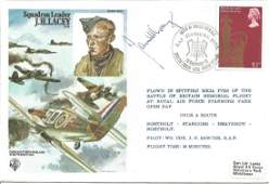 Squadron Leader J. H. Lacey, DFM signed official RAF