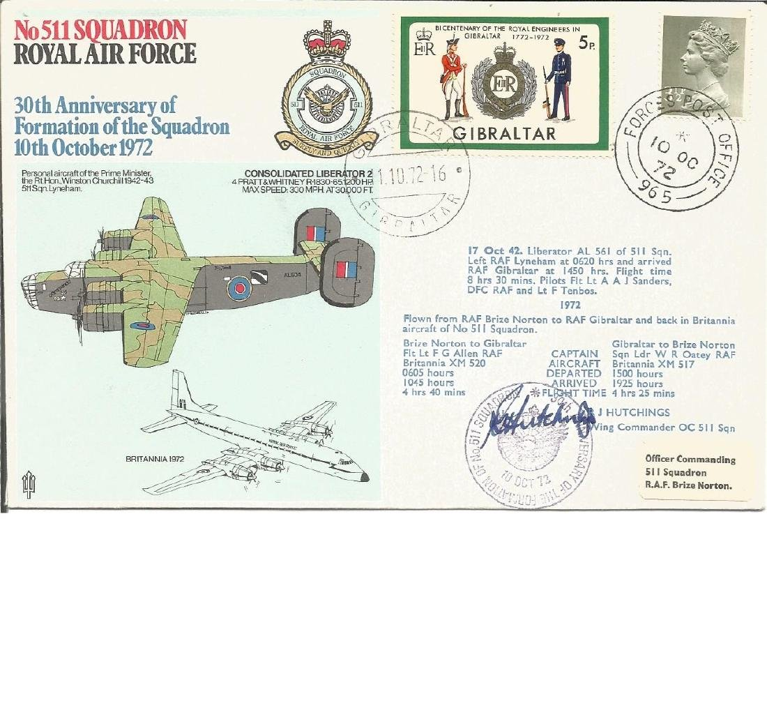 Wg Cdr R J Hutchings signed No 511 Sqn cover