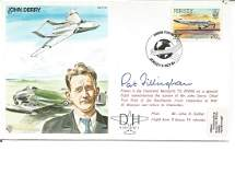 Pat Fillingham signed on John Derry's Test Pilot cover