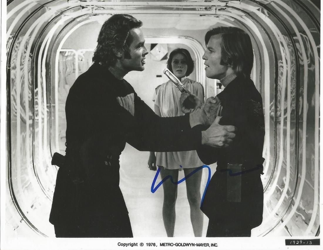 Michael York Logan's Run hand signed 10x8 photo. This