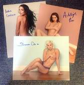 Lot of 3 Playboy Models hand signed 10x8 photos. These