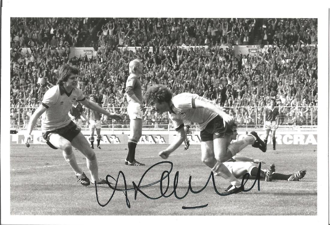Alan Sunderland Signed Arsenal 1979 Fa Cup Final Photo.
