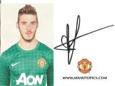David De Gea Signed Official Manchester United Card.