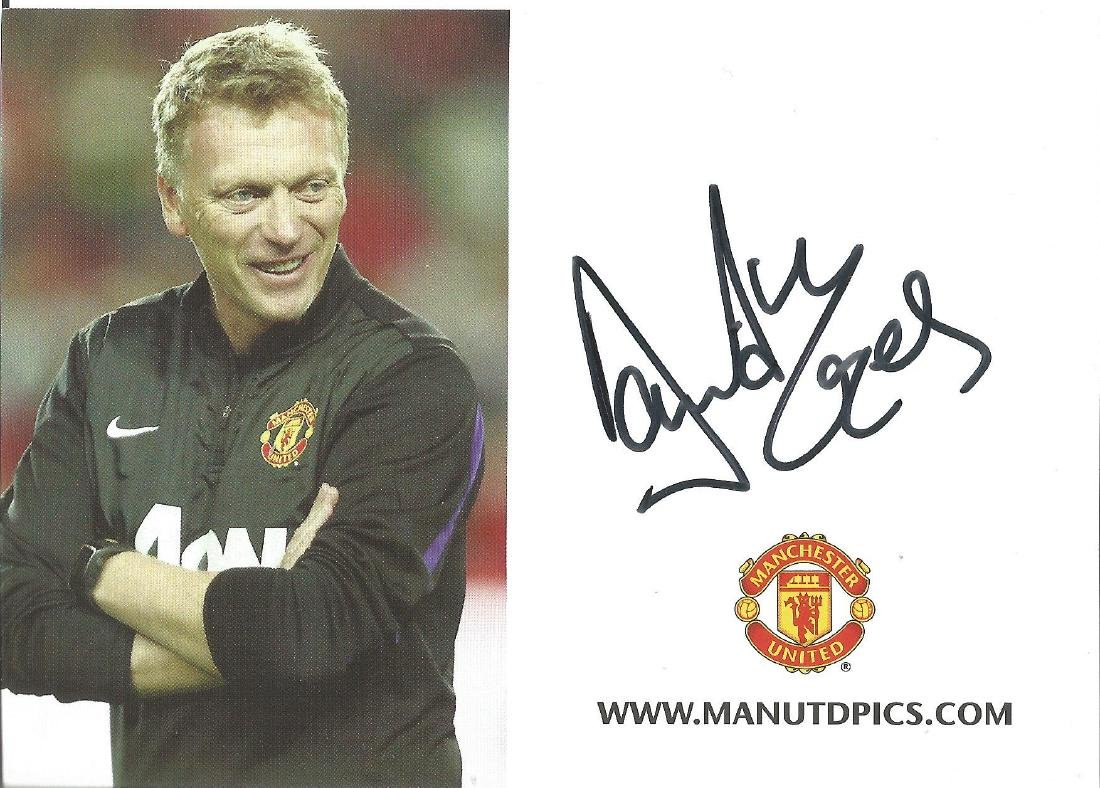 David Moyes Signed Official Manchester United Card.